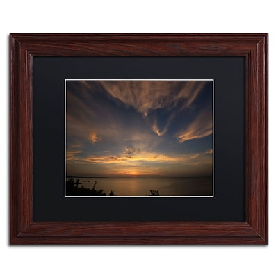 Trademark Fine Art Another Amazing Sunset on Lake Erie by Kurt Shaffer 11x14 FRM Art, BLK MTD (KS0168-W1114BMF)