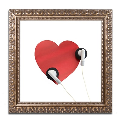 Trademark Fine Art BC0128-G1616F Listen to Your Heart by Beata Czyzowska Young 16 x 16 FRM Art