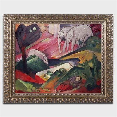 Trademark Fine Art BL01239-G1620F The Dream by Franz Marc 16 x 20 Framed Art