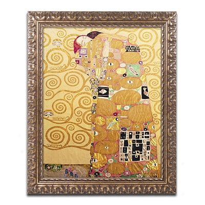Trademark Fine Art BL0401-G1620F Fulfillment by Gustav Klimt 20 x 16 Framed Art