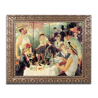 Trademark Fine Art M214-G1620F Luncheon by Pierre-Auguste Renoir 16 x 20 Framed Art