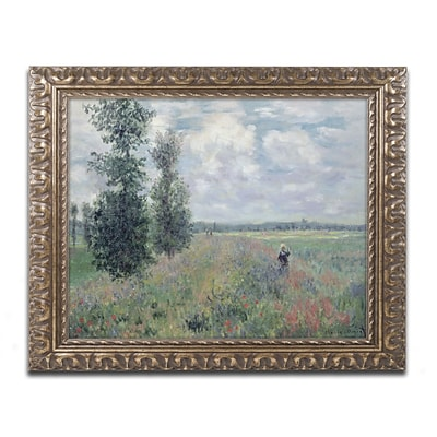 Trademark Fine Art BL01183-G1620F The Poppy Field by Claude Monet 16 x 20 Framed Art