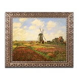 Trademark Fine Art M1001-G1620F Tulips in a field by Claude Monet 16 x 20 Framed Art