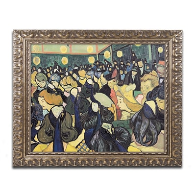 Trademark Fine Art BL0261-G1620F The Dance Hall at Arles 1888 by Vincent van Gogh 16x20 FRM Art