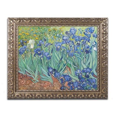 Trademark Fine Art BL0317-G1620F Irises, 1889 by Vincent van Gogh 16 x 20 Framed Art