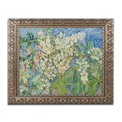 Trademark Fine Art BL0414-G1620F Blossoming Chesnut Branches by Vincent van Gogh 16 x 20 FRM Art