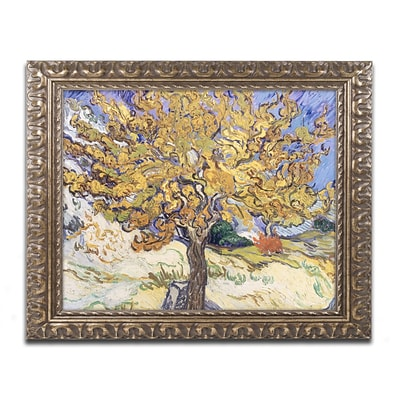 Trademark Fine Art BL0415-G1620F Mulberry Tree, 1889 by Vincent van Gogh 16 x 20 Framed Art