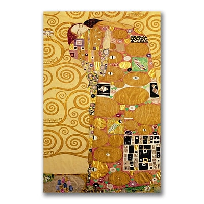 Trademark Fine Art BL0401-C2432GG Fulfillment by Gustav Klimt 32 x 24 Frameless Art