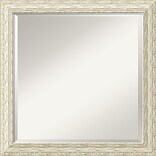 Amanti Art Cape Cod DSW1290255 Wall Mirror 23.5 H x 23.5 W, White