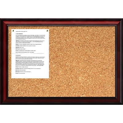 Amanti Art Rubino 19 x 27 Message Cork Boards