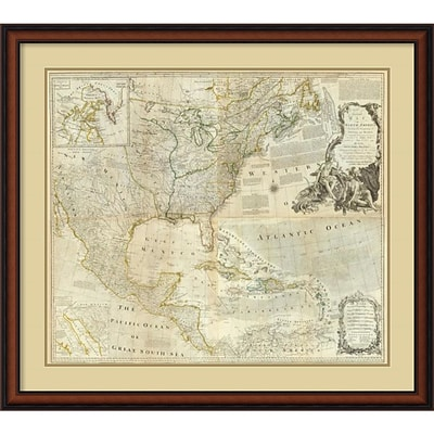 Amanti Art Composite: North America, 1776 Framed Art Print