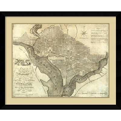 Amanti Art Plan of the City of Washington, 1795 Framed Art Print