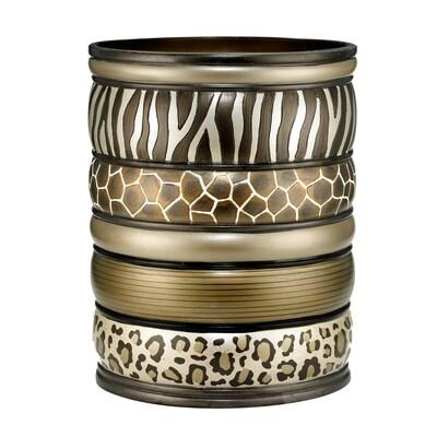 Popular Bath Products Safari Stripe Waste Basket