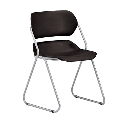 OFM Martisa 202-4PK-SLVR-BLK Armless Plastic Stack Chair, Black