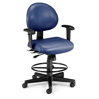 OFM 241-VAM-AADK-65 Vinyl Task Chair with Arms, Navy