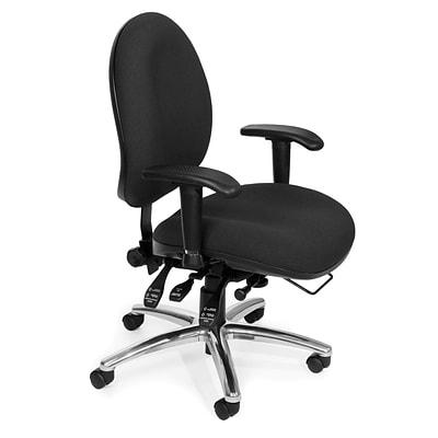 OFM 247-206 Fabric Task Chair with Arms, Black