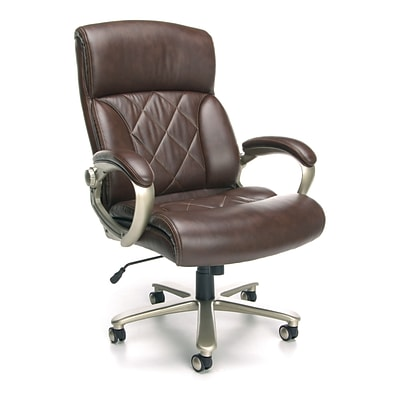 OFM Avenger 812-LX-BRN Leather Executive Chair, Brown