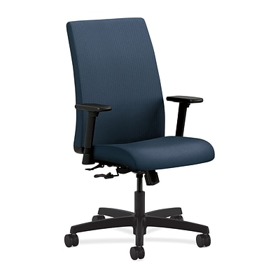 HON® Ignition® Mid-Back Office/Computer Chair, Arms, Blue