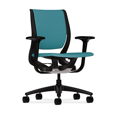 HON® Purpose® Mid-Back Office/Computer Chair, Upholstered, Blue