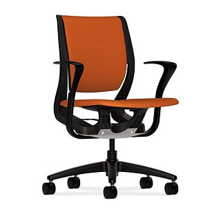 HON® Purpose® Mid-Back Office/Computer Chair, Upholstered, Tangerine