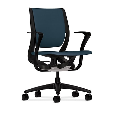 HON® Purpose® Mid-Back Office/Computer Chair, Upholstered, Cerulean