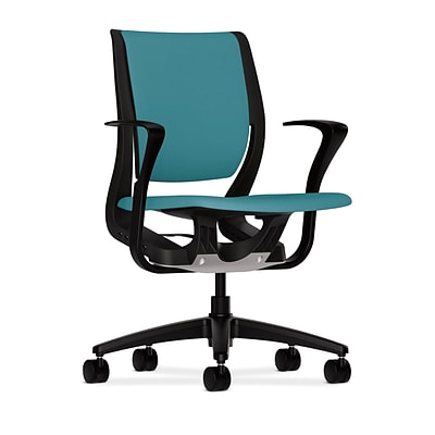 HON® Purpose® Mid-Back Office/Computer Chair, Upholstered, Glacier