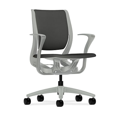 HON® Purpose® Mid-Back Office/Computer Chair, Upholstered, Iron Ore