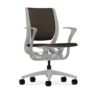 HON® Purpose® Mid-Back Desk or Computer Chair, Upholstered, Espresso
