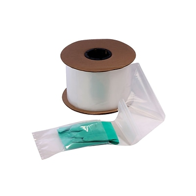 10 x 15 Layflat Poly Bags on a Roll, 2 mil, Clear, 750/Roll, (2733)