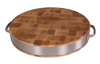 John Boos Boosblock Maple Cutting Board W/ Stainless Steel Band