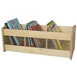 Wood Designs Toddler 3 Compartment Book Display