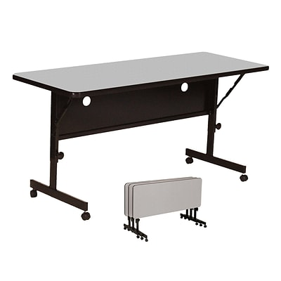 Correll 72-inch Laminate Flip Top Table, Gray Granite