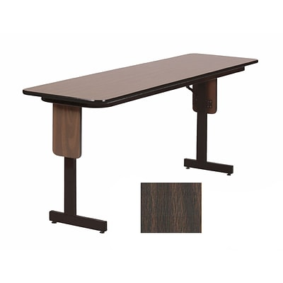 Correll 72-inch Laminate & Particle Board Top Seminar Folding Table, Walnut