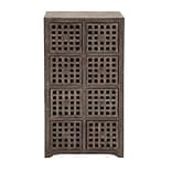Woodland Imports Fancy Wood 8 Drawer Chest