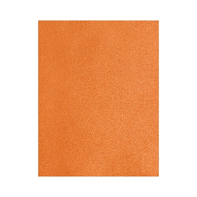 Lux Cardstock 12 x 18 inch Flame Metallic Orange 250/Pack