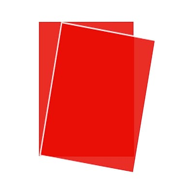 Lux Paper 8.5 x 11 inch Red Translucent 1000/Pack