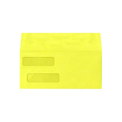 Lux Double Window Invoice Envelopes, Citrus 4 1/8 x 9 1/2 inch 500/Pack