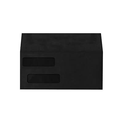 Lux Double Window Invoice Envelopes, 4 1/8 x 9 1/2, Midnight Black 250/Pack