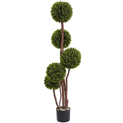 Nearly Natural 5428 Boxwood Topiary 4-feet Green