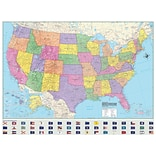 Universal Map Advanced Political United States Laminated Rolled Map