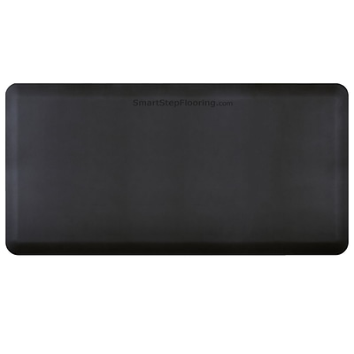 Smart Step® Supreme Polyurethane Anti-Fatigue Mat, 72 x 36, Black (SS63BLK)