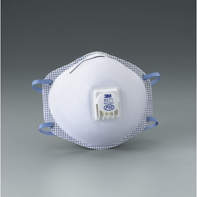 3M™ Disposable Particulate Respirator,  8271, P95, Oil Proof, 10/BX