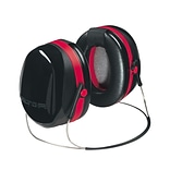 3M™ Optime 105 Earmuffs, Peltor Dual Cup Backband Hearing Protector, Black/Red, 29dB (665570291)