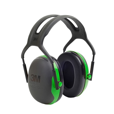 3M Occupational Health & Env Safety Over-the-Head Earmuffs Black & Green Each