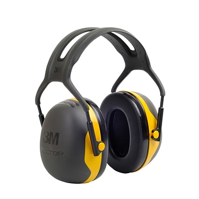 3M Occupational Health & Env Safety Over-the-Head Earmuffs Black & Yellow Each
