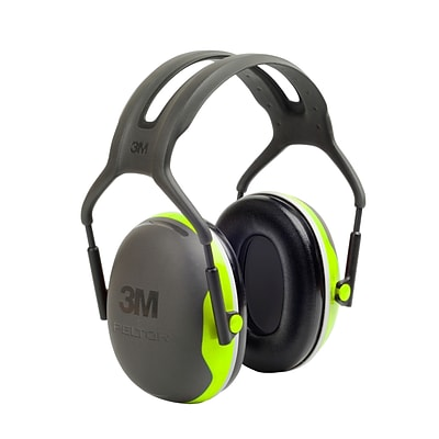 3M Occupational Health & Env Safety Over-the-Head Earmuffs Black & Chartreuse Each