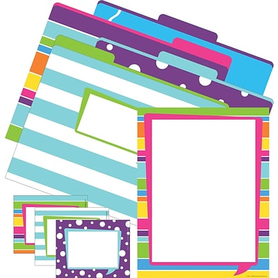 Barker Creek Happy Get Organized Office, 12 letter folders, 45 self-adhesive labels, 50 sheets/Set