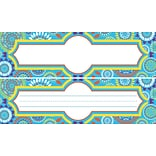 Barker Creek Dbl-Sided Moroccan Name Plates & Bulletin Board Signs, multi-design, 12 x 3.5, 36/PK