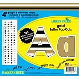 Barker Creek 4 24k Gold Letter Pop-Outs & Poster Letters with Gold Foil, 255 characters/Pack