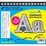 Barker Creek 4 White Chalkboard Pop-Outs & Poster Letters, 234 characters/Pack
